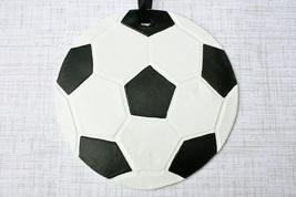 """Oversize Soccer Ornament, 6"""" Soccer Ball Ornament, Soccer Gift - Handmade - $24.99"""