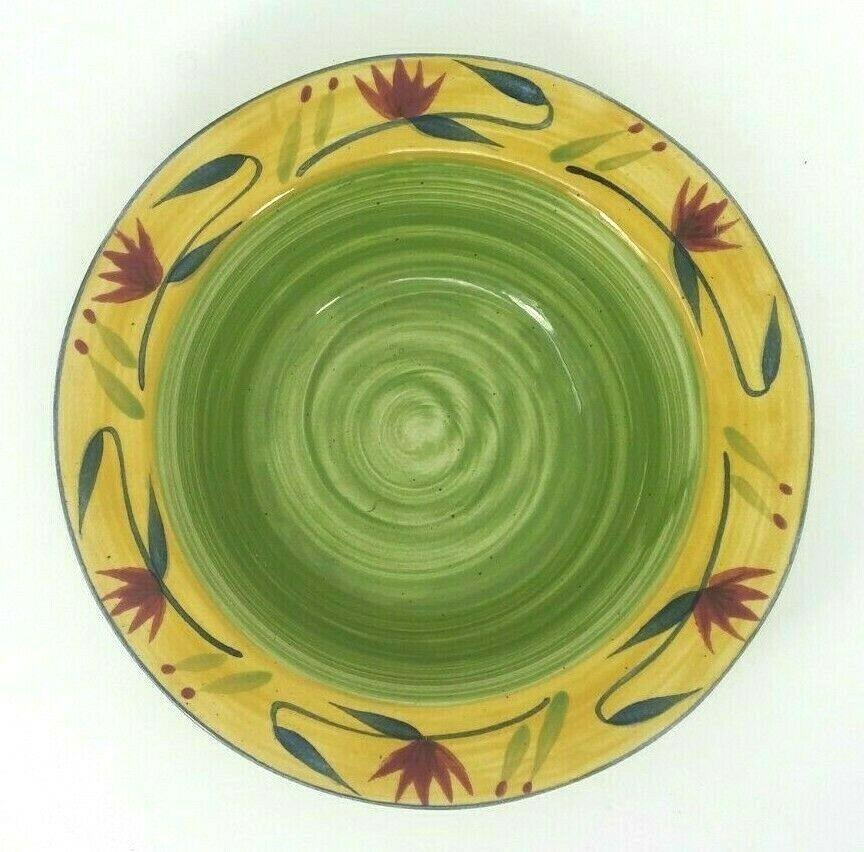 Large Pier 1 ELIZABETH Round Vegetable / Salad Serving Bowl 11-7/8 x 3 inches.