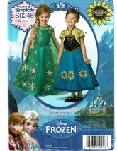 SIMPLICITY PATTERN 0246 FROZEN HOME SEWING PATTERN CHILDS COSTUMES SZ A ... - $3.50