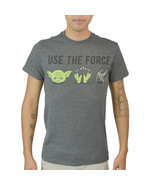 "Star Wars Chibi Yoda ""Use The Force"" Quote Men's Grey T-shirt - $7.99"