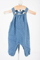 Zara Baby Overalls Sz 3-6 Months Blue Denim Star all over Print 4433/556... - $19.79