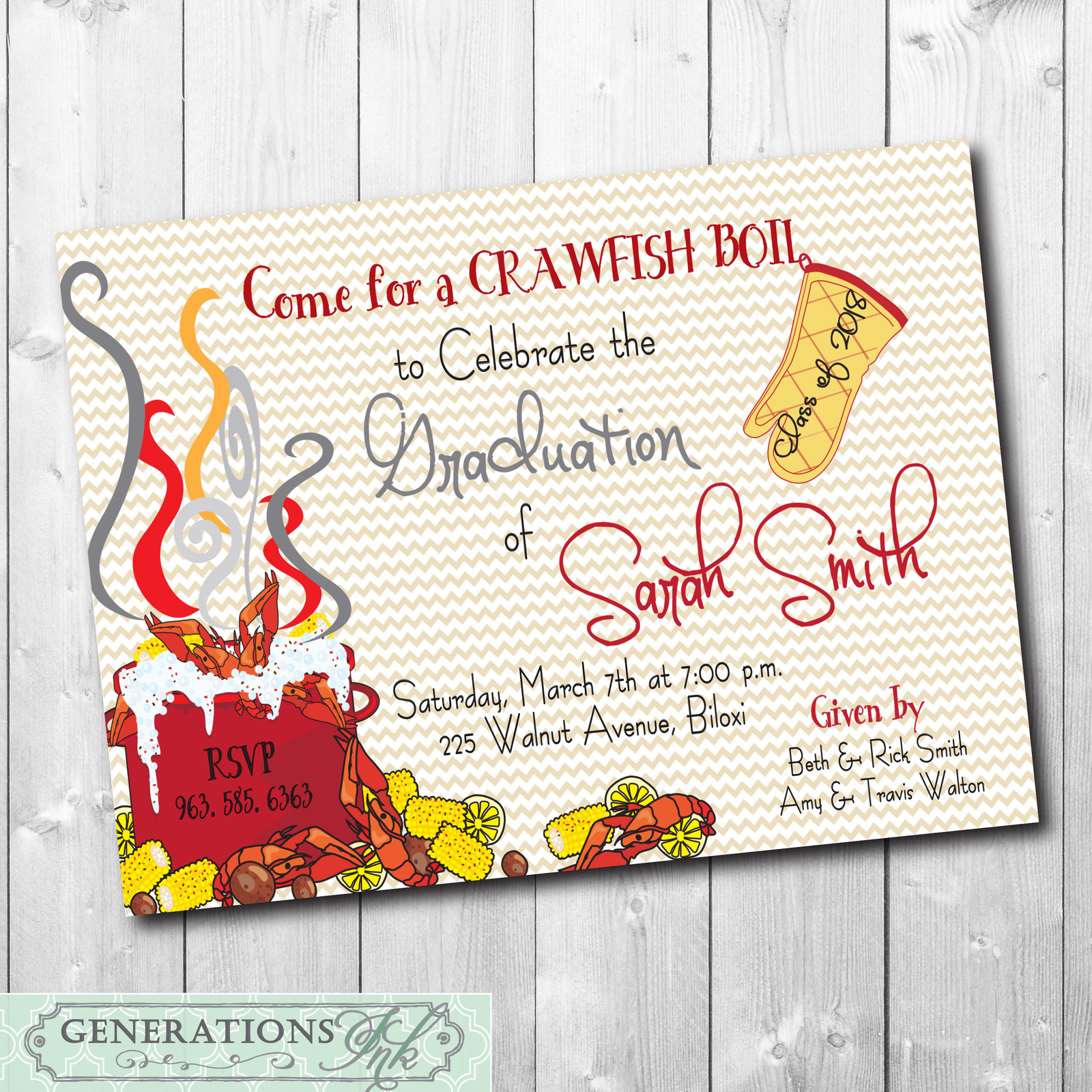 picture about Crawfish Boil Invitations Free Printable referred to as Crawfish Boil Commencement Occasion and 50 identical merchandise