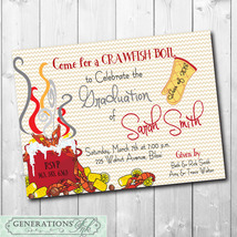 Crawfish Boil Graduation Party Invitation/Seafood Boil/printable/Digital... - $14.99