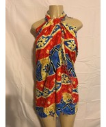 Womans Swim Suit Sarong Cover Up Scarf Dress By In Gear Red Blue Tan Bla... - $8.40