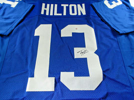 T.Y. HILTON / INDIANAPOLIS COLTS / HAND SIGNED COLTS BLUE CUSTOM JERSEY / COA image 1