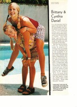Brittany Daniel Cynthia Daniel teen magazine pinup clipping Sweet Valley High YM