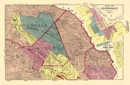 Sonoma County Cloverdale Pine Flat California - Thompson 1877 - 23.00 x 34.96 - $36.58+