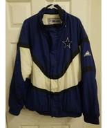 Vintage 90s Dallas Cowboys Apex One Pro Line Jacket L NFL Football Puffe... - $34.60