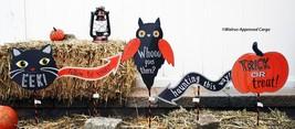 Pottery Barn Kids Halloween Stake Signs (5) -NIB- Follow The Fear To Fun! - $49.95