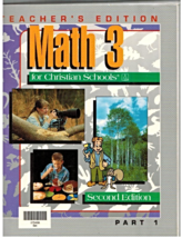 Math 3 for Christian Schools 2nd Edition BJU Press Teacher's Edition Par... - $14.75