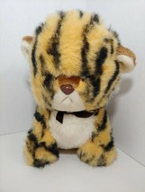 GUND vintage 1982 Tanga tiger cub off white tan black stripes sitting black cow - $14.84