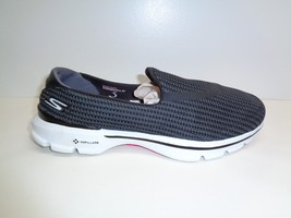 Skechers Size 8 GOWALK 3 Black Gogo Mat Slip On Sneakers New Womens Shoes - $60.28