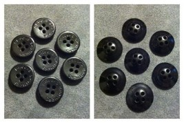 Lot 1164 - 7 Black Brooks Brothers 4-Hole Sewing Buttons - $7.91