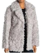 Avec Les Filles Womens Faux Fur Coat Jacket Silver Gray Size Medium NWT - $94.05