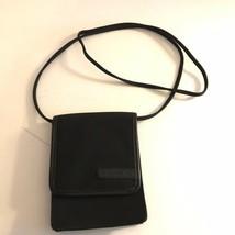 Small Black Nylon Crossbody Fossil Phone Wallet Belt Loop Handbag - $18.99