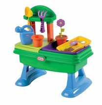 Little Kids Garden Gardening Table Table Top Plant Water Flowers Basin B... - $57.86