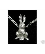 LOOK Silver Animal Rabbit Bunny Pendant Charm Jewelry - $14.20