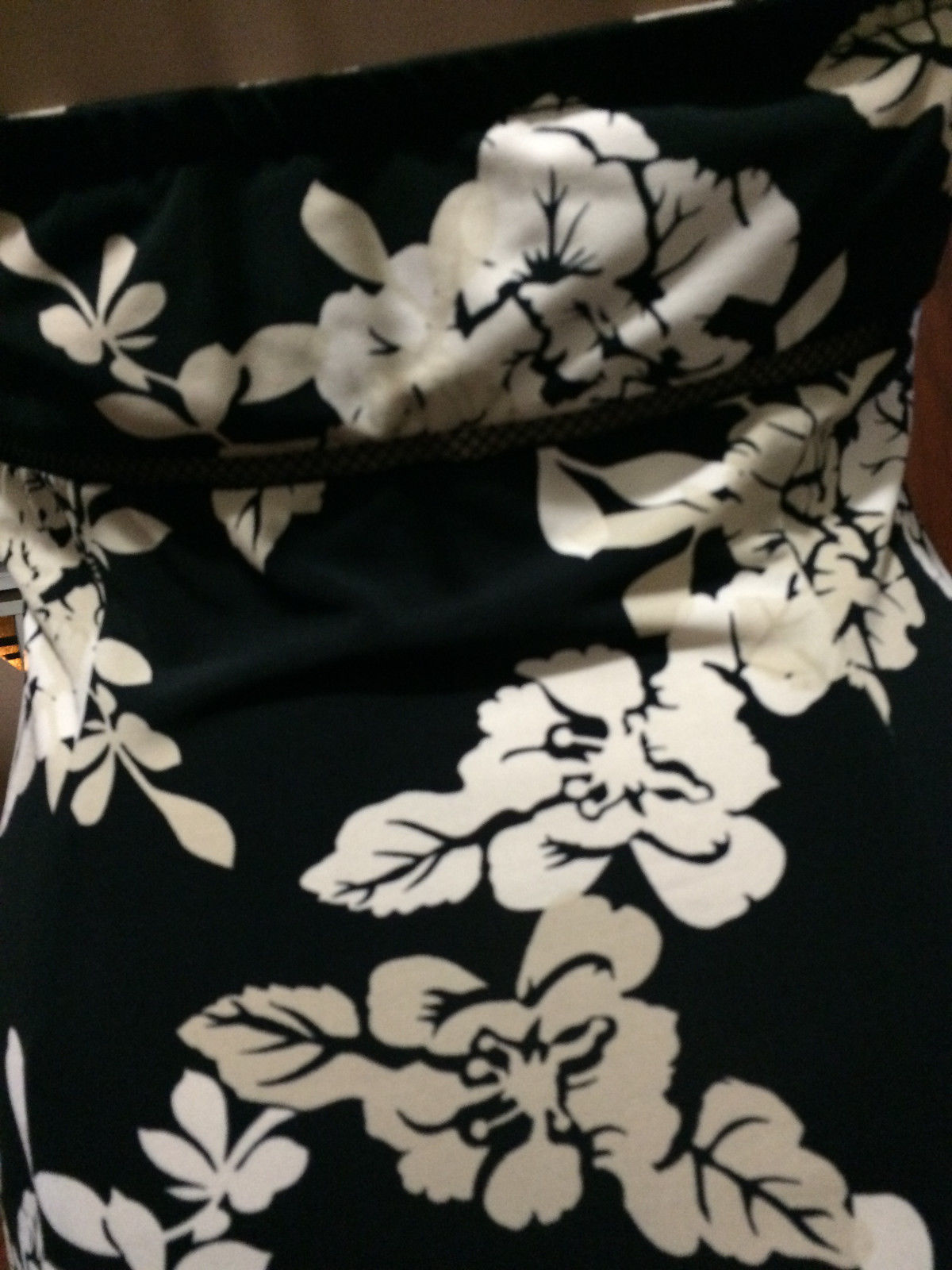 BCBG MaxAzria Cross Lace Bust Flower Halter Black  Dress Size S