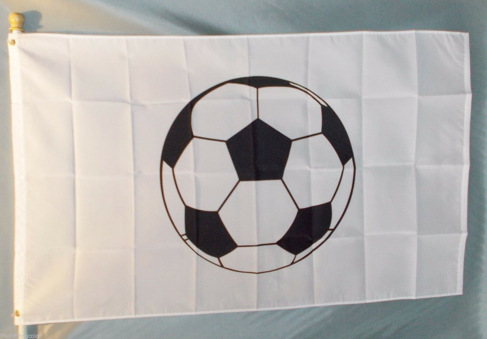 SOCCER BALL 3X5' FLAG BIG NEW 3'X5' FUTBOL FOOTBALL Fall Sports