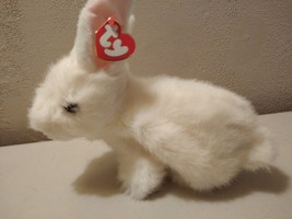 TY Classic Beanie Buddy Bows the White Bunny Rabbit - $24.95