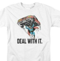 Superman T-shirt Deal With It DC comic book Batman superhero cotton tee ... - $19.99+