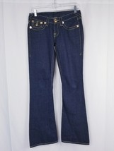True Religion Womens Jeans Section Joey  Big T  Blue Jeans Flare Size 26... - $29.99