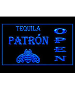 P830B Patron Tequila Beer OPEN For Pub Bar Display Light Sign - $17.99