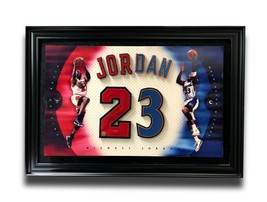 MICHAEL JORDAN SIGNED JERSEY NUMBERS FRAMED PHOTO COLLAGE UDA BULLS WIZA... - $3,495.00