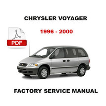 CHRYSLER VOYAGER & GRAND VOYAGER 1996 - 2000 FACTORY SERVICE REPAIR SHOP MANUAL image 1