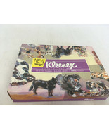 Vintage box kleenex little travelers white tissues new design mixed dog ... - $19.75