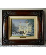 Thomas Kinkade Evening Carolers S/N Canvas Limited Edition Christmas No ... - $589.05