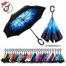 umbresen Double Layer Inverted Umbrella Cars Reverse Open Folding Umbrel... - $18.49