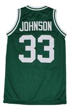 Magic Johnson #33 Michigan Basketball Jersey Green Any Size image 5