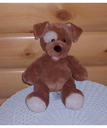 Build-A-Bear Plush Cinnamon Brown Puppy Dog with Cream Eye Patch & Accents - $7.89