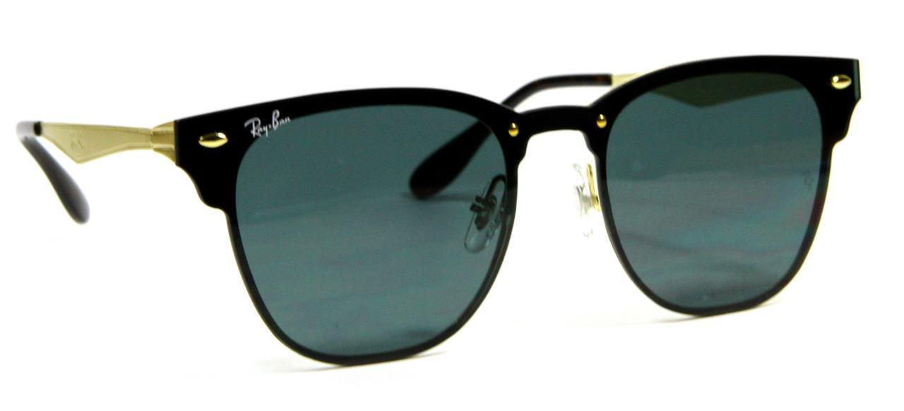 Primary image for Ray Ban 3576N 043/71 Blaze Clubmaster Brusched Gold Frame Sunglasses 47mm New