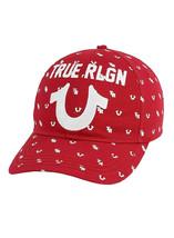 True Religion Men's All Over Monogram Pattern Cap Sport Strapback Baseball Hat image 2