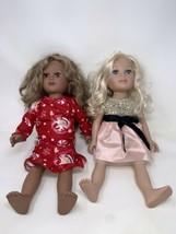 """18"""" Geoffrey Journey Girls Dolls Blonde Hair Blue Eyes & Dark Skinned Br... - $49.49"""