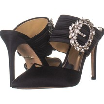 Badgley Mischka Fancy Mule Pumps 762, Black Satin, 6.5 US - €77,31 EUR