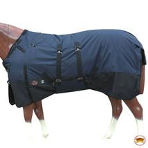 """66"""" Hilason 1200D Winter Waterproof Poly Horse Blanket Belly Wrap Navy U-L-66 - $84.99"""