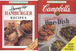 ~ LOT OF 2 COOKBOOKS CAMPBELL'S FABULOUS ONE-DISH RECIPE & HURRY-UP HAMB... - $3.00