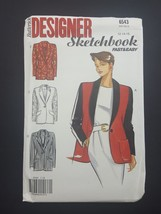 Butterick Fast Easy Sewing Pattern 6543 Misses Jacket 12 14 16 Vintage 1... - $8.95