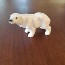 Vintage Polar Bear Figurine, Bone China, Delta Japan Animal Figurine, Bear Decor image 2