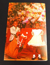 Vintage African American Kids Christmas Greeting Card Brooklyn NY - $12.82