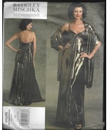 Plus Size Vogue American Designer Pattern-Badgley Mischka-Dress & Stole ... - $9.46