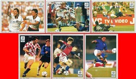 GAMBIA 1996 FOOTBALL EURO CUP x6 S/S MNH CV$34.00 SPORTS, GAMES SCENES - $5.94