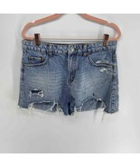 Wild fable acid wash distressed jean short high rise womens 12 - $20.00