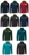 NFL Men's Interval Hoodie 1/4 Zip Pullover Space Dye Raglan Sleeve Hoody NEW