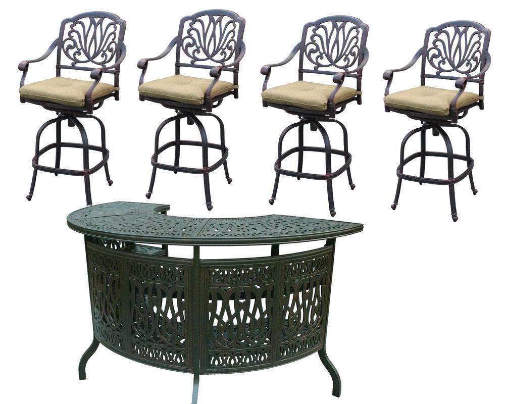 elisabeth outdoor bar stools cast aluminum and 10 similar items