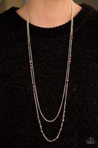 Rich With Glitz - Brown Necklace - $5.00