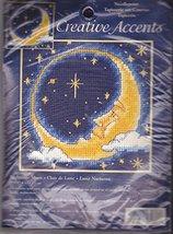 "Creative Accents Needlepoint Nightime Moon 5"" x 5"" - $15.95"